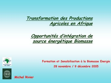 Application de la biomasse à la transformation des produits ... - bepita