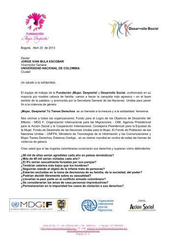 Bogotá, Abril 23 de 2013 Doctor JORGE IVAN BULA ESCOBAR ...