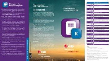Padrão de entrada – Caixa tipo K - EDP Bandeirante