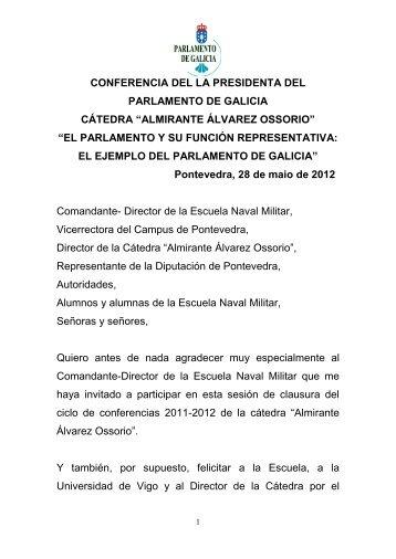 el parlamento y su función representativa - Parlamento de Galicia