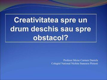 Profesor Moise Carmen Daniela Colegiul National Nichita Stanescu ...