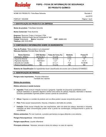 Fispq - Tinta Aluminio - Tintas Resicolor
