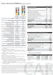 Prezzi e dati tecnici HYMER Car Prezzi e dati tecnici ... - Hymer AG
