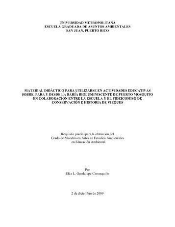 Guadalupe Carrasquillo, Elda L. (2009). Material didáctico para ...