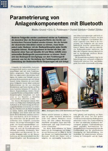 Parametrierung von Anlagenkomponenten mit ... - Schildknecht AG
