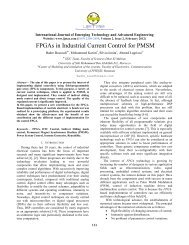 FPGAs in Industrial Current Control for PMSM (Suspended) - IJETAE