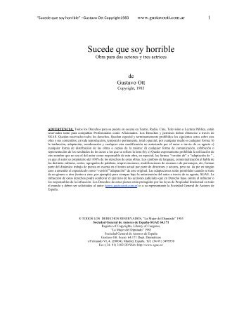 Sucede que soy horrible - Gustavo Ott