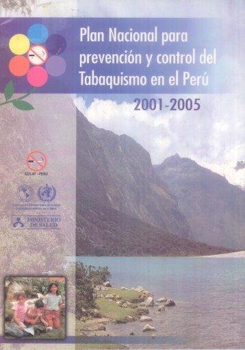 Plan Nacional pam prevención y control d - BVS Minsa - Ministerio ...