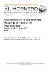 Aves albinas en la colección del Museo de la Plata. I. No - Biblioteca ...