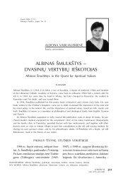 Albinas Šmulkštys - dvasinių vertybių ieškotojas (pabaiga) - Logos