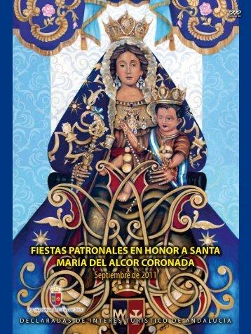 FIESTAS PATRONALES EN HONOR A SANTA MARÍA DEL ALCOR ...