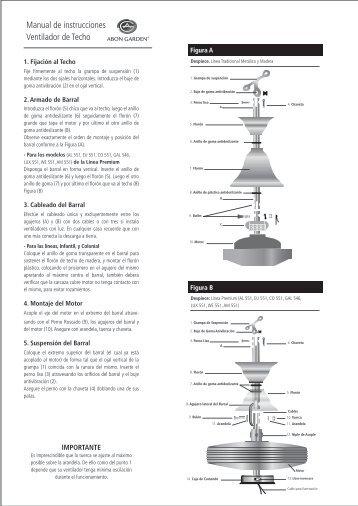 Manual de instrucciones Ventilador de Techo - Abon Garden
