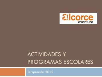 Programas Escolares 2011-12 - Alcorceaventura.com