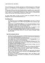 Infobrief Mittagessen homepage Schiller 2010