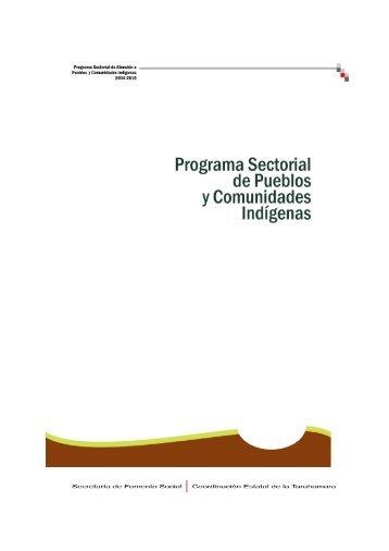 Programa Sectorial de Pueblos y Comunidades Indígenas