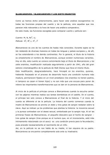 ANÁLISIS PSICOANALÍTICO Blancanieves - Edu365.cat