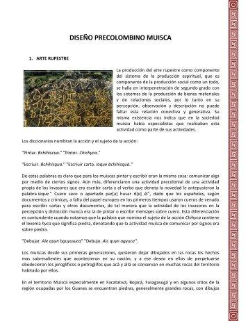 DISEÑO PRECOLOMBINO MUISCA - TALLER5-HISTDISENO8A-B
