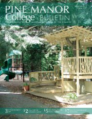 the magazine for alumnae & friends of the - Pine Manor College