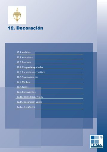 12. Decoración
