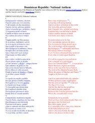 Dominican Republic: National Anthem - NYU Steinhardt