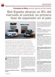 Sixt España alcanza un 8% del mercado al concluir ... - Hosteltur.com