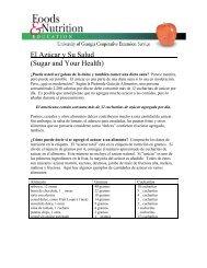 El Azúcar y Su Salud (Sugar and Your Health)