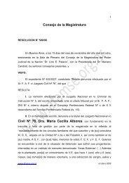 Consejo de la Magistratura Civil Nº 76, Dra. María Cecilia Albores ...