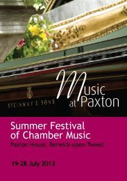 Download 2013 Festival programme / brochure - Music at Paxton
