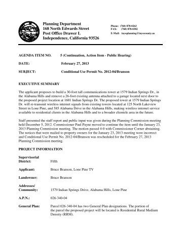 Staff Report, for February 27, 2013 Planning Commission