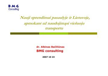 Nauji sprendimai pasaulyje ir Lietuvoje, apmokant ... - BMG Consulting