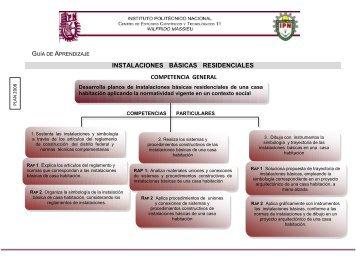 INSTALACIONES BÁSICAS RESIDENCIALES ... - CECyT 11