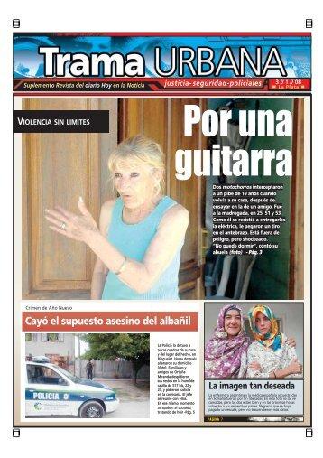 Cayó el supuesto asesino del albañil - Diario Hoy