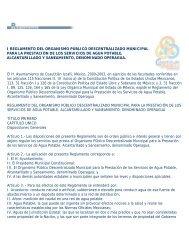 i reglamento del organismo público descentralizado municipal para