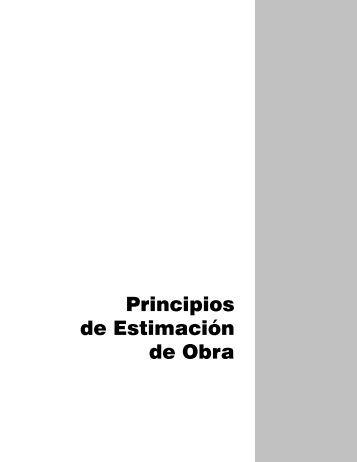 Principios de Estimación de Obra - Colegio de Bachilleres del ...