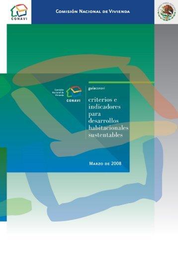 Criterios e indicadores para desarrollos habitacionales ... - Conavi