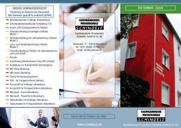 teilzeit - Kaufmännische Privatschule Schindele GmbH & Co. KG