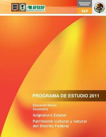 PROGRAMA DE ESTUDIO 2011 - Subsecretaría de Educación Básica