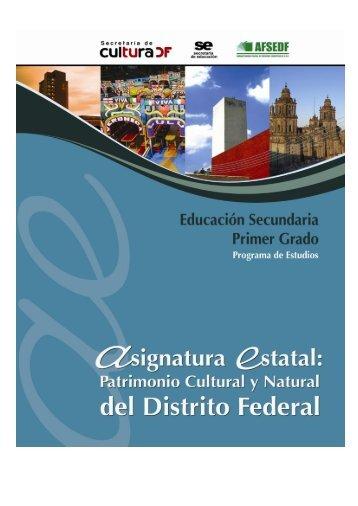 Patrimonio Cultural y Natural del Distrito Federal - Reforma de la ...