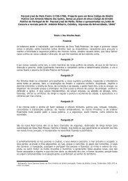 Projecto para um Novo Código de Direito Público - Faculdade de ...
