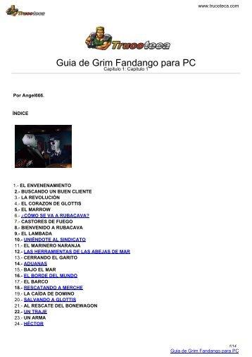Guia de GRIM FANDANGO para PC - Trucoteca.com
