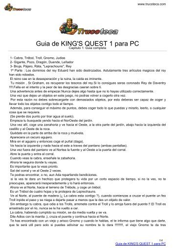 Guia de KING'S QUEST 1 para PC - Trucoteca.com