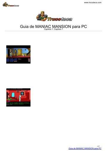 Guia de MANIAC MANSION para PC - Trucoteca.com