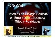 Sistema de Diálogo - Foro Tecnológico y Empresarial