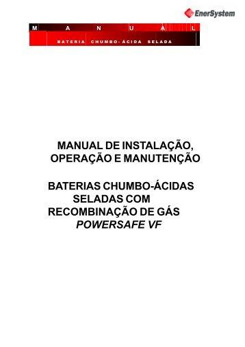 Manual de Instalação, Operação e Manutenção ... - Enersystem