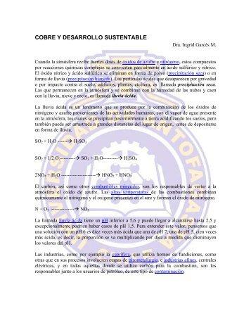 cobre y desarrollo sustentable.pdf - Universidad de Antofagasta