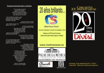Concierto XX aniversario - Divisi
