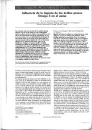 Influencia de la ingesta de los ácidos grasos Omega 3 en el asma