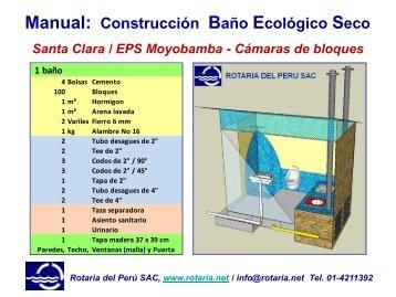 Manual: Construcción Baño Ecológico Seco - SCADAweb