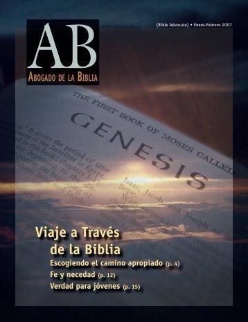Viaje a Través de la Biblia - The Bible Advocate Online