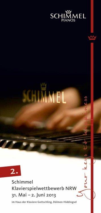 Schimmel Klavierspielwettbewerb NWR 2013